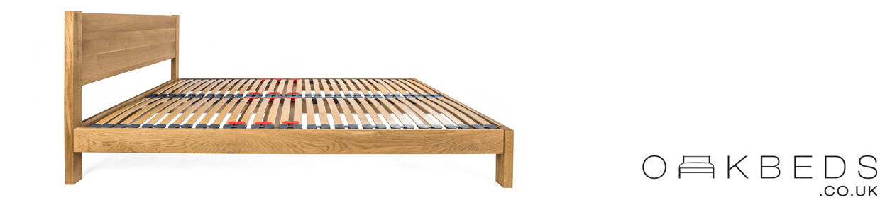 Epping Solid Oak Bed Frame with integrated Headboard